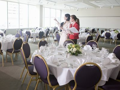 Event Planners Before a Luncheon