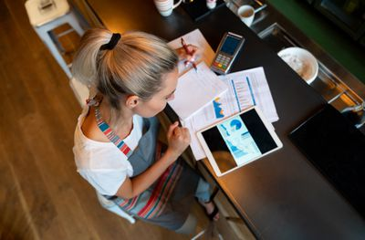 Small business owner accounting for accrued liabilities