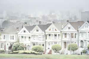The Victorian houses of Alamo Square