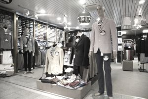 clothing store display